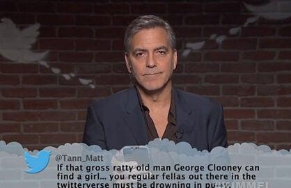George Clooney Mean Tweets