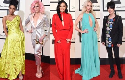 Grammy Awards Red Carpet Split