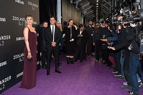 ennifer Aniston and Justin Theroux at Zoolander 2 premiere