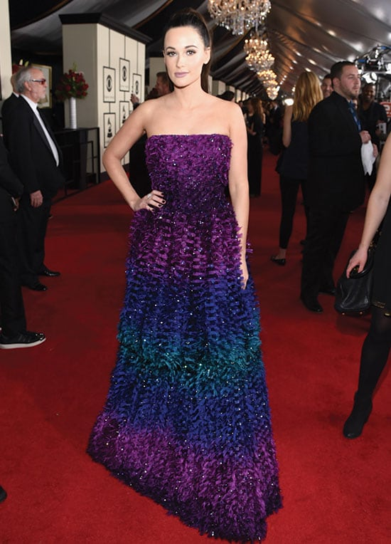 Kacey Musgraves arrives at the 2016 Grammy Awards