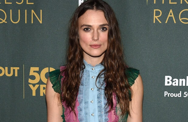 NEW YORK, NY - OCTOBER 29: Actress Keira Knightley attends the Roundabout Theatre Company's Broadway opening night of Therese Raquin Co-Sponsored by FIJI Water on October 29, 2015 in New York City. (Photo by Bryan Bedder/Getty Images for FIJI Water)
