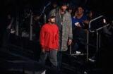 Lamar Odom at Kanye West Yeezy Fashion Show
