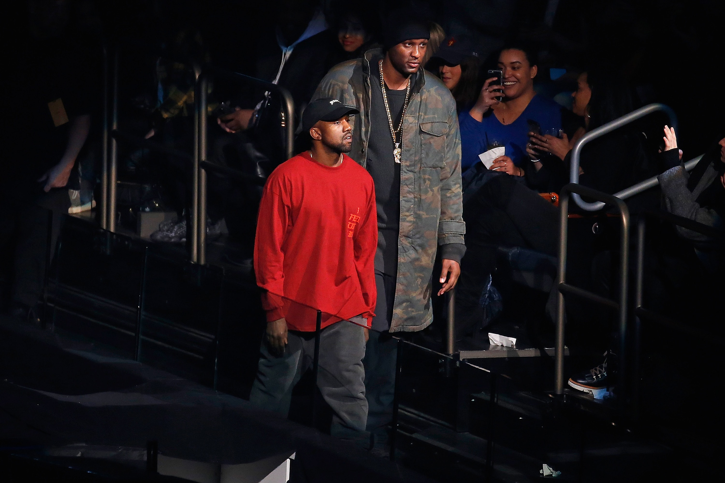 Lamar Odom at Kanye West Yeezy Fashion Show