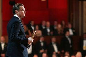 Leonardo DiCaprio Oscars Profile Shot