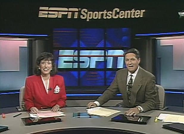 Linda Cohn's first SportsCenter