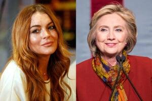 Lindsay Lohan Hillary Clinton