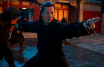 """A character in """"Crouching Tiger, Hidden Dragon: Sword of Destiny"""" strikes a martial arts pose"""
