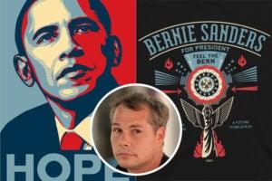 Obama Poster Sanders Shirt