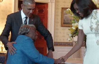 Obama Dances with 106-year-old woman