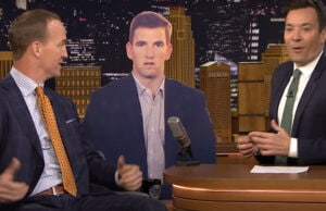 Peyton Manning explains Eli's face at Super Bowl