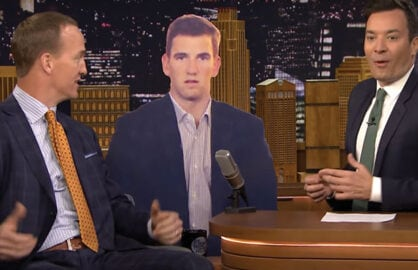 Peyton Manning explains Eli face at Super Bowl