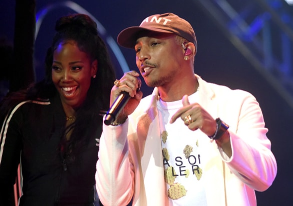 Pharrell Williams performs during the Pepsi Rookie Of The Year Awards at Pier 70 on Feb. 5