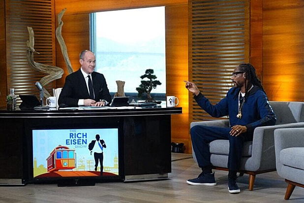 Rich Eisen and Snoop Dogg on set