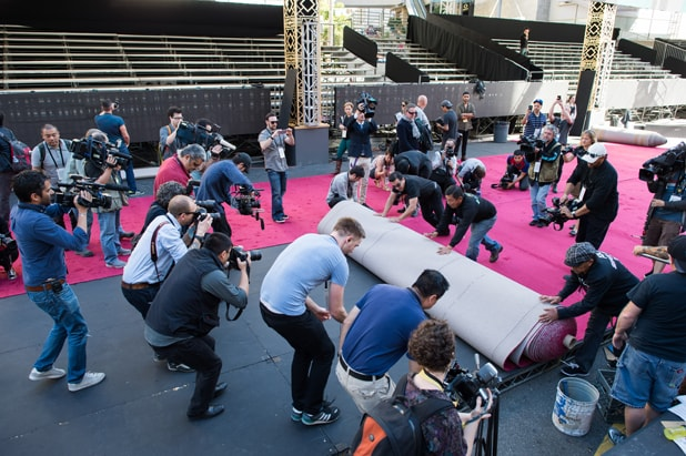 Preparations continue Wednesday, February 24, 2016 for the 88th Oscars® for outstanding film achievements of 2015 which will be presented on Sunday, February 28, 2016 at the Dolby® Theatre and televised live by the ABC Television Network.