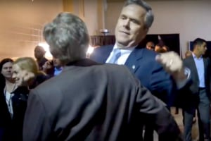 Jeb bush chest bump