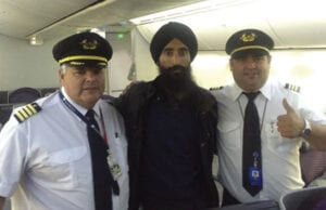 Sikh actor Waris Ahluwalia on flight home