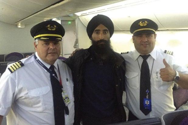Sikh actor Waris Ahluwalia on flight home