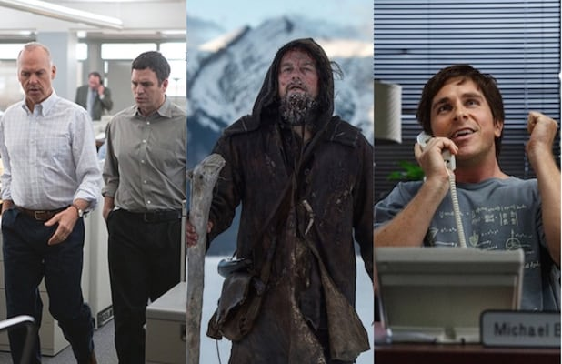 Oscar nominees Spotlight The Revenant and The Big Short