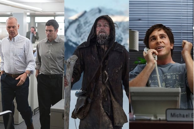 Oscar nominees Spotlight The Revenant and The Big Short