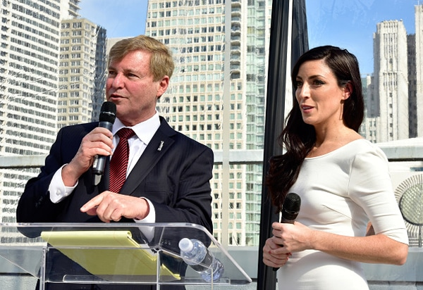 Sports agent Leigh Steinberg (with Nicole Fisher) hosted his annual Super Bowl Party on Feb. 6
