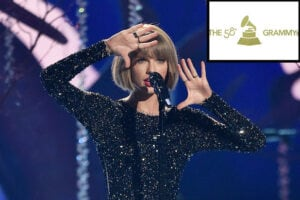 Taylor Swift and Grammys Logo