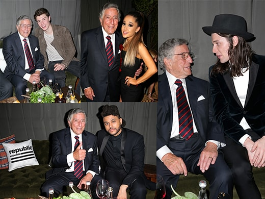 Tony Bennet with Weeknd <a href=