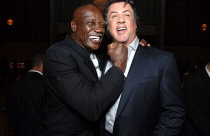Tony Burton with Sylvester Stallone