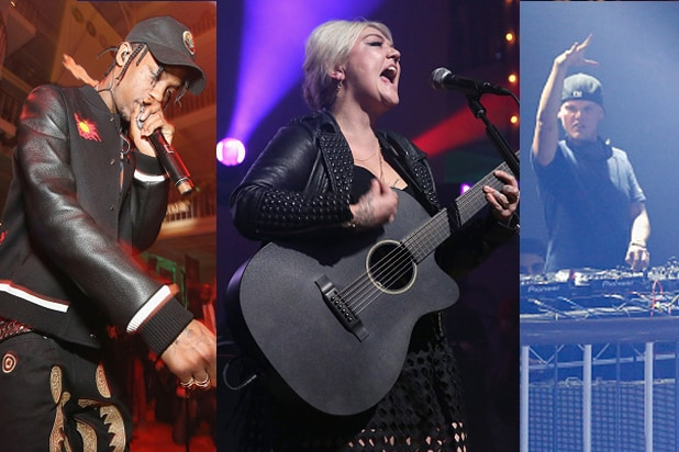 Travis Scott, Elle King and Avicii ring in the Super Bowl at the Rolling Stone party