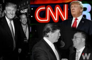 Donald Trump with Jeff Zucker collage