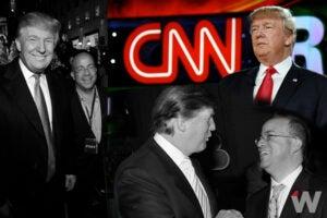 Donald Trump with Jeff Zucker collage