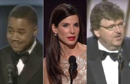 Wrap Ranker Best Acceptance Sandra Bullock cuba gooding jr michael moore