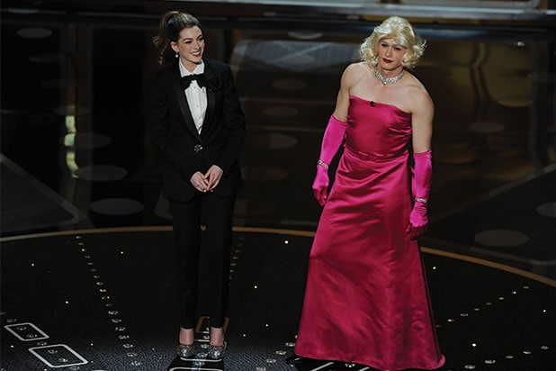 Anne Hathaway, James Franco Oscar host
