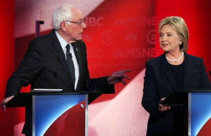 Bernie Sanders Hillary Clinton Democratic Debate