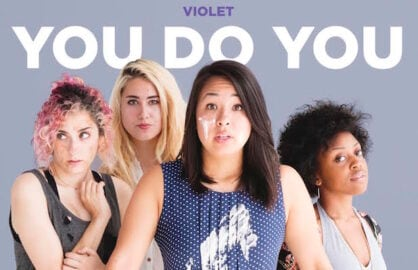 Stars of BuzzFeed's Violet troupe of video talent stand together in a press photo