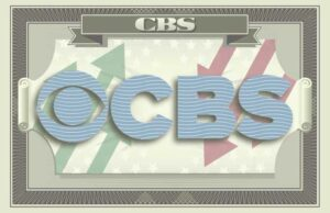 CBS' logo on the iconography of a dollar bill