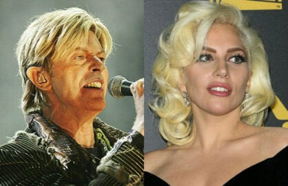 david bowie lady gaga grammys