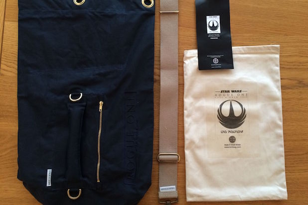 Star Wars Rogue One bags with possible new logos