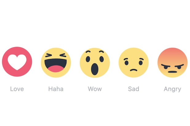 Facebook's expanded reaction buttons