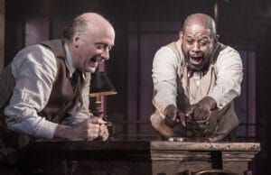 Frank Wood and Forest Whitaker in Hughie