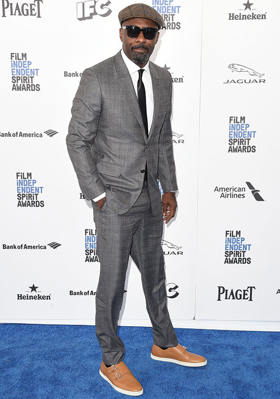 Idris Elba arrives at the 2016 Spirit Awards