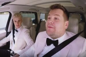james corden justin bieber grammys carpool karaoke grammy awards grammys