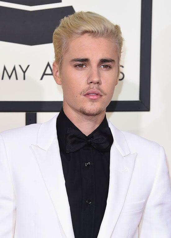 Justin Bieber arrives at the 2016 Grammys