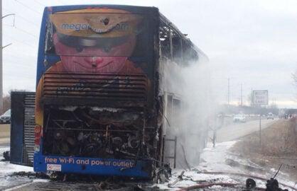 megabus new york times frugal traveler bus fire