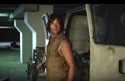 norman reedus walking dead hoverboard zombies jimmy kimmel