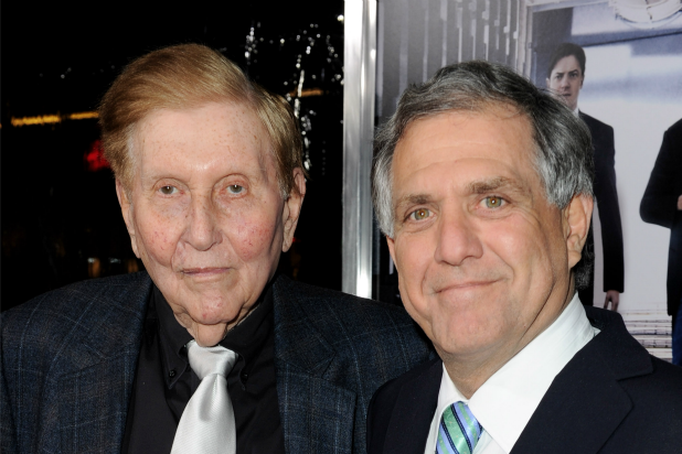 Sumner Redstone and Leslie Moonves