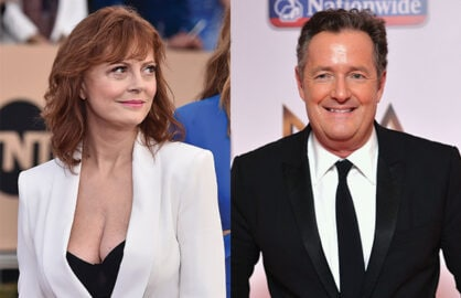 Susan Sarandon, Piers Morgan Twitter feud