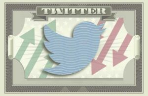 Twitter's logo on the iconography of a dollar bill