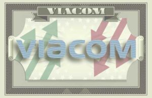 Viacom's logo on the iconography of a dollar bill