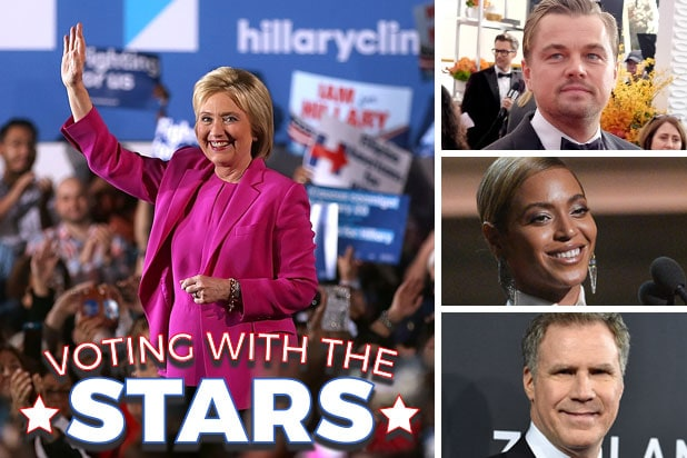 Stars Who Support Hillary Clinton From Beyonce To Leonardo Dicaprio