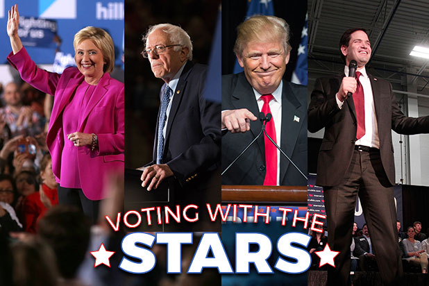Celebrity endorsements for 2016 | TheHill